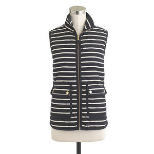 J. Crew Excursion Quilted Striped Vest